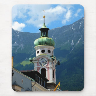 Clock tower in Innsbruck Mouse Pad