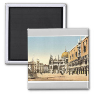 Clock tower, St. Mark's, and Doges' Palace, Piazze Magnet