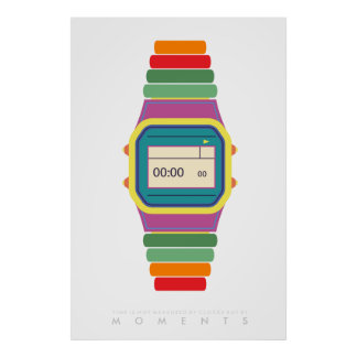 Clock Watch | Retro Pop Art Poster 70s 80s | Quote