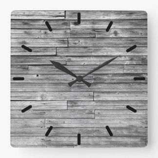 Clock - Weathered Barn Wood