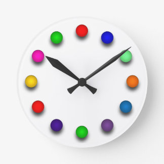 Clock with coloured ballons