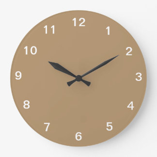 Clock with golden background