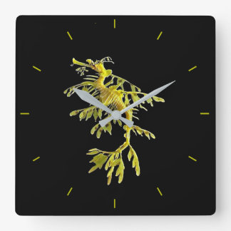 Clock with Leafy Sea Dragon Seahorse