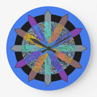 Clock with modern geometric design