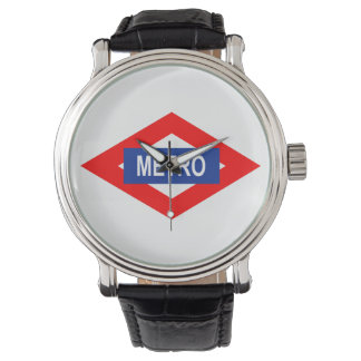 Clock with the plate of the meter of Madrid Watch