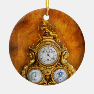 Clockmaker - Anyone have the time Round Ceramic Decoration