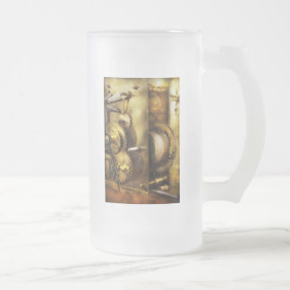 Clockmaker - We all mesh Frosted Glass Beer Mug