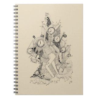 Clocks modern art Notebook