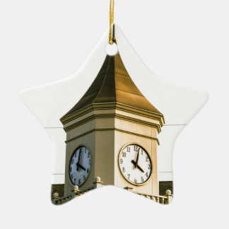 Clocktower Ceramic Ornament