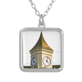 Clocktower Silver Plated Necklace