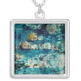 Clockwork blues pendant