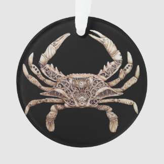 Clockwork Crab Ornament with Ribbon