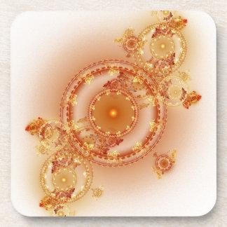 Clockwork I - Fractal Art Cork Coaster