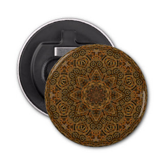 Clockwork Kaleidoscope  Magnetic Bottle Openers