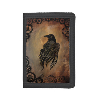 Clockwork Raven Trifold Wallets