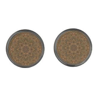 Clockwork Vintage Cufflinks, 4 shapes Gunmetal Finish Cufflinks
