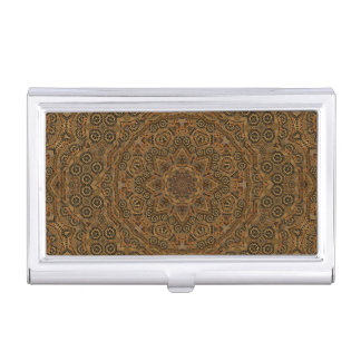 Clockwork Vintage Kaleidoscope  Business Card Case