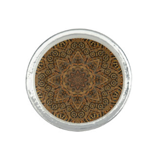 Clockwork Vintage Kaleidoscope    Round Ring