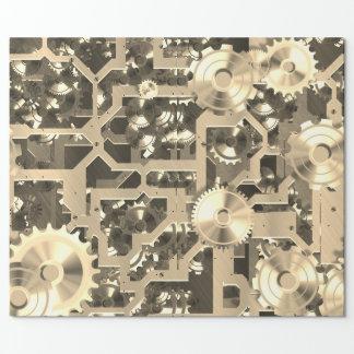 Clockworks Sepia Nostalgic Wrapping Paper