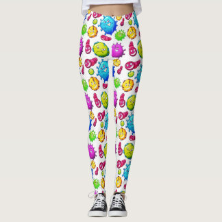 Clolorful Gems Pattern Leggings