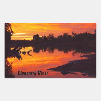 Cloncurry River sunsise rectangular sticker