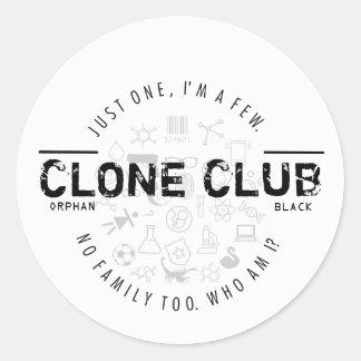 Clone Club Logo Classic Round Sticker