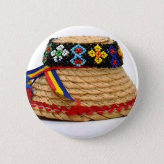 clop traditional hat 6 cm round badge