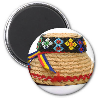 clop traditional hat 6 cm round magnet