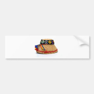 clop traditional hat bumper sticker