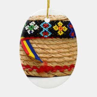 clop traditional hat ceramic ornament