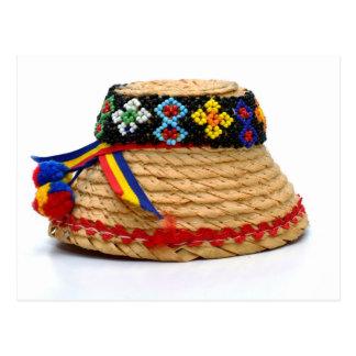 clop traditional hat postcard