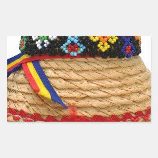 clop traditional hat rectangular sticker