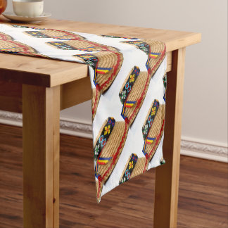 clop traditional hat short table runner