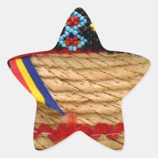 clop traditional hat star sticker