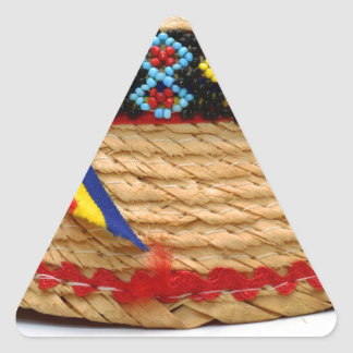 clop traditional hat triangle sticker