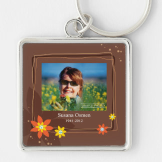 Close At Heart Silver-Colored Square Key Ring