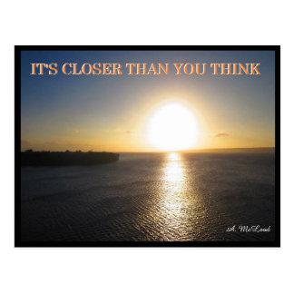 Close Sun Postcard - FLat Earth Meme