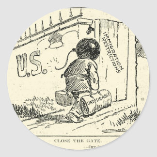 Close the gate (from the public domain) round sticker