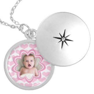 Close to My Heart Baby Pink Custom Photo Round Locket Necklace
