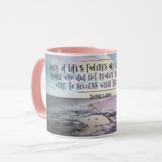 Close To Success by Thomas Edison Mug