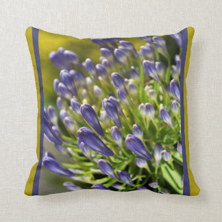 Close Up Agapanthus Pillow by bubbleblue Throw Cushion