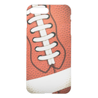 Close Up American Football Pigskin & Laces Clearly iPhone 8 Plus/7 Plus Case