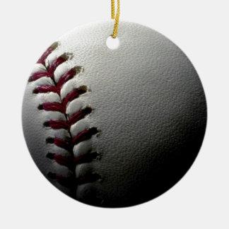 Close-up Baseball Round Ceramic Decoration