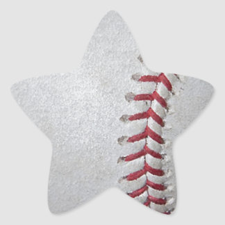 Close-up Baseball Surface Star Sticker