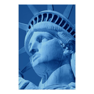 Close-up Blue Statue of Liberty Poster