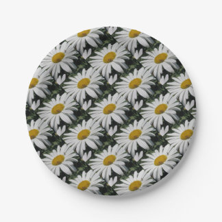Close Up Common Daisy with Winged Insects Paper Plate