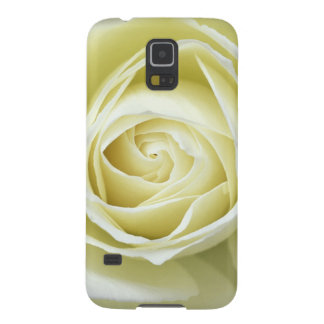 Close up details of white rose cases for galaxy s5