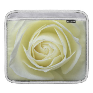 Close up details of white rose iPad sleeves