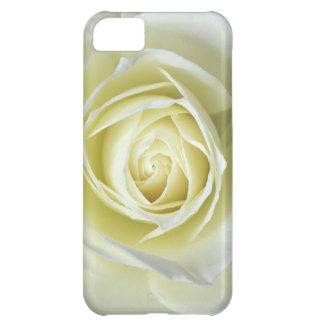 Close up details of white rose iPhone 5C case