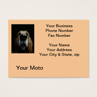 Close Up Dog Business Card